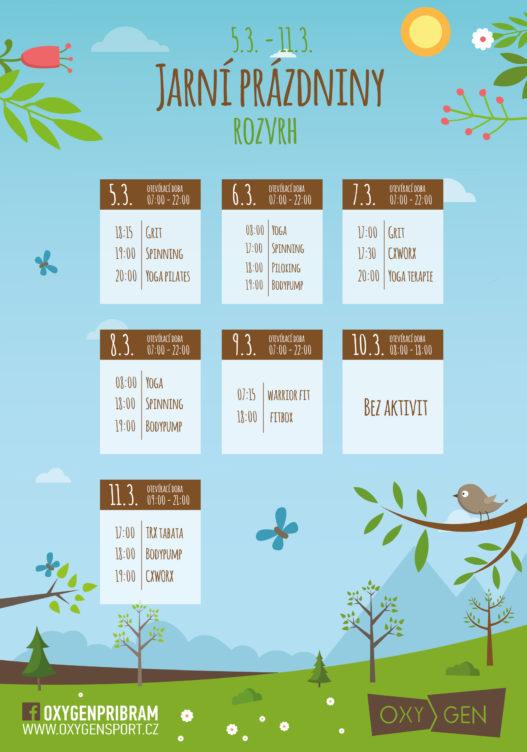 Změna rozvrhu o jarních prázdninách