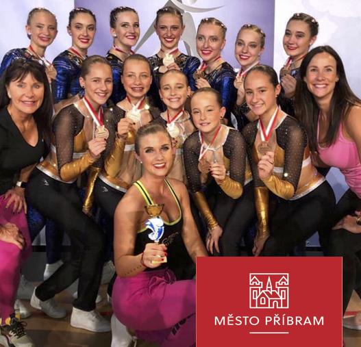 Dívky z Oxygenu přivezly do Příbrami medaile z mistrovství Evropy